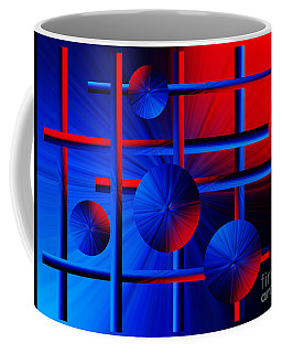 Abstract Red/blue 2 Coffee Mug by Trena Mara