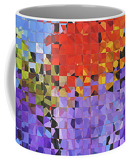Abstract Red Flowers - Pieces 5 - Sharon Cummings Coffee Mug
