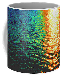 Abstract Reflections Digital Painting #5 - Delaware River Series Coffee Mug