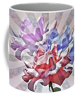 Abstract Roses Coffee Mug by Rosalie Scanlon