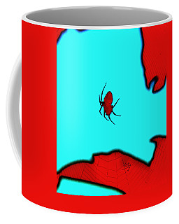 Coffee Mug featuring the photograph Abstract Spider by Linda Hollis