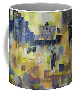 Abstract Stroll Coffee Mug by Raymond Doward