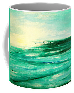 Abstract Sunset In Blue And Green Coffee Mug