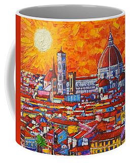 Abstract Sunset Over Duomo In Florence Italy Coffee Mug