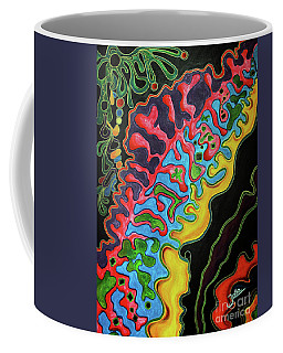 Coffee Mug featuring the painting Abstract Thought by Jolanta Anna Karolska