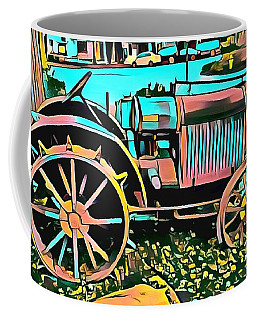 Coffee Mug featuring the digital art Abstract Tractor Los Olivos California by Floyd Snyder