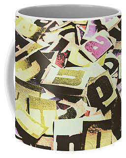 Abstract Typescript Coffee Mug