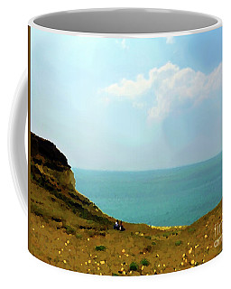 Abstract View From Cliff Coffee Mug