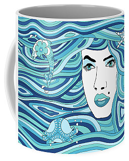 Abstract Water Element Coffee Mug by Serena King