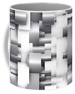 Abstract White And Grey Coffee Mug
