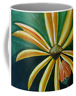 Abstract Yellow Sunflower Art Floral Painting Coffee Mug