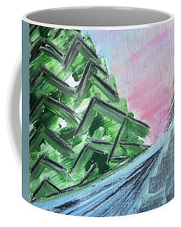 Abstract Winter Landscape Coffee Mug