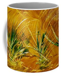 Abstract Yellow, Green Fields   Coffee Mug