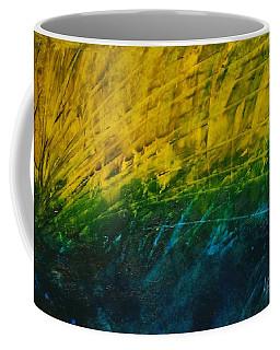 Abstract Yellow, Green With Dark Blue.   Coffee Mug