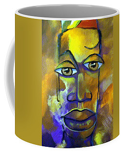Abstract Young Man Coffee Mug by Raymond Doward