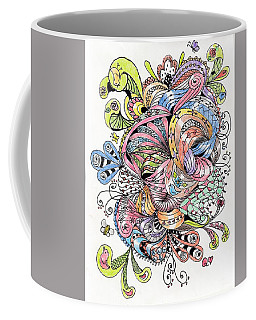 Abstract2colored Coffee Mug by Quwatha Valentine