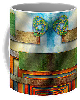 Coffee Mug featuring the digital art Abstraction 2 Mirrored by Chuck Staley