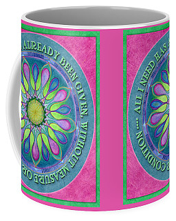 Abundance Mandala Prayer Coffee Mug