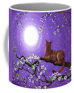 Abyssinian In Amethyst Moonlight Coffee Mug by Laura Iverson