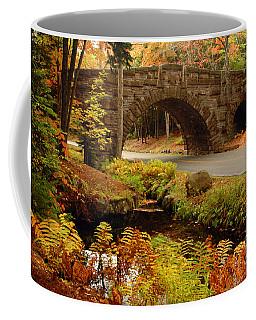 Coffee Mug featuring the photograph Acadia Stone Bridge by Alana Ranney