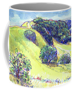 Coffee Mug featuring the painting Acalanes Ridge, Lafayette, Ca by Judith Kunzle
