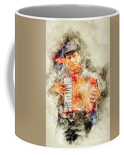 Accordionist Paris Coffee Mug
