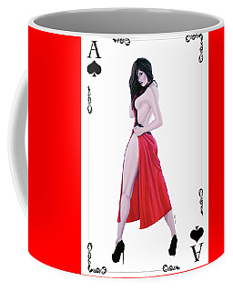 Ace Of Spades Coffee Mug by Joseph Ogle