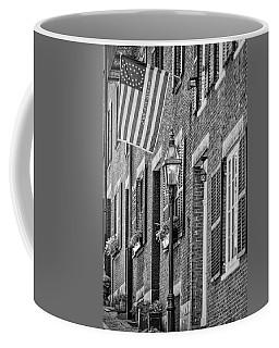 Acorn Street Details Bw Coffee Mug by Susan Candelario