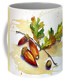 Acorns And Leaves Coffee Mug