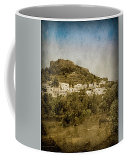 Coffee Mug featuring the photograph Rhodes, Greece - Acropolis Of Lindos by Mark Forte
