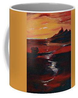 Across Amber Fields To The Sea Coffee Mug by Donna Blackhall
