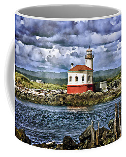 Across From The Coquille River Lighthouse Coffee Mug by Thom Zehrfeld