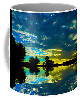 Coffee Mug featuring the photograph Across Poyo Lake by Mark Blauhoefer