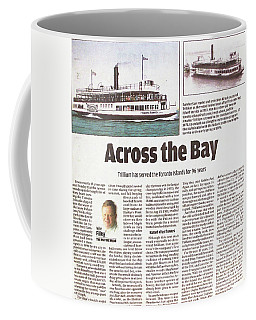 Coffee Mug featuring the painting Toronto Sun Article Across The Bay by Kenneth M Kirsch