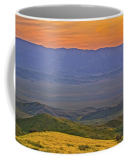 Across The Carrizo Plain At Sunset Coffee Mug