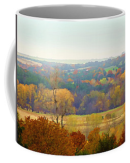 Across The River In Autumn Coffee Mug