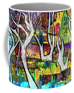 Coffee Mug featuring the painting Acrylic Forest  by Ariadna De Raadt