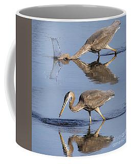 Action Shot - Great Blue Heron Coffee Mug