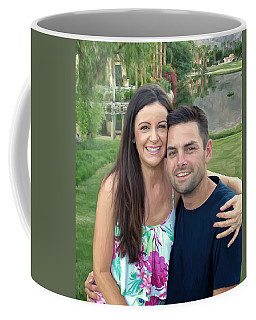 Coffee Mug featuring the painting Adam And Lys by Michael Pickett