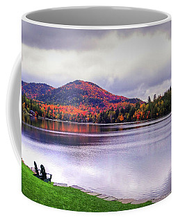 Adirondack Chairs In The Adirondacks. Mirror Lake Lake Placid Ny New York Mountain Coffee Mug