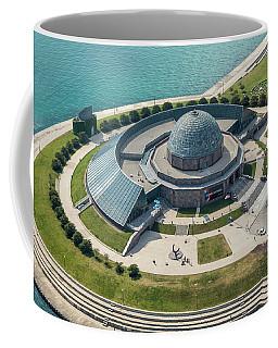 Coffee Mug featuring the photograph Adler Planetarium Aerial by Adam Romanowicz