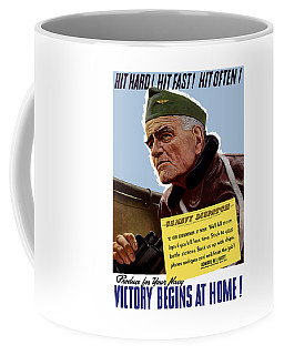 Admiral William Bull Halsey -- Ww2 Propaganda  Coffee Mug