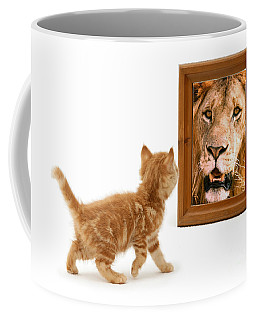 Admiring The Lion Within Coffee Mug