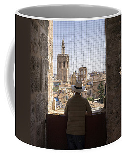 Admiring The Micalet In Valencia Coffee Mug