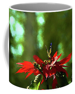 Coffee Mug featuring the photograph Admiring The Monarch by John Kolenberg