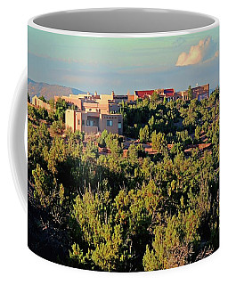 Coffee Mug featuring the photograph Adobe Homestead Santa Fe by Diana Mary Sharpton