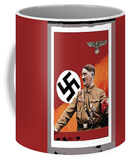 Adolf Hitler In Color With Nazi Symbols Unknown Date Additional Color Added 2016 Coffee Mug
