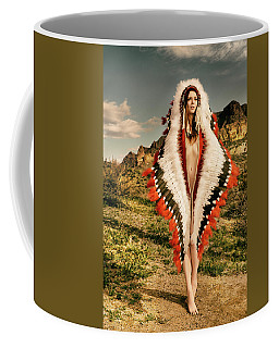 Adorned Feathered Nude Coffee Mug