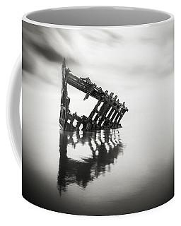 Adrift At Sea In Black And White Coffee Mug