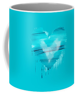 Coffee Mug featuring the painting Adrift In A Sea Of Blues Abstract by Nikki Marie Smith